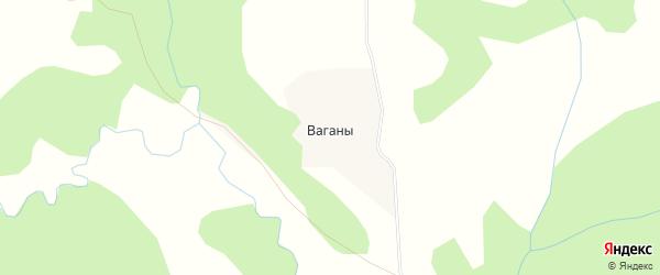 Карта деревни Ваганы в Архангельской области с улицами и номерами домов