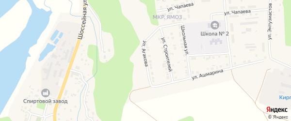 Улица Л.Я.Агакова на карте Ядрина с номерами домов