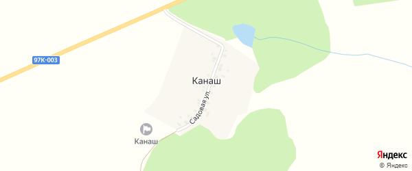 Садовая улица на карте деревни Канаша с номерами домов