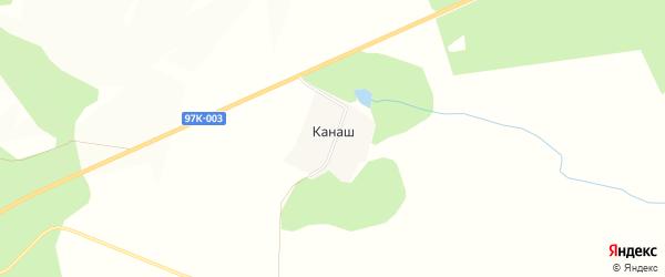 Карта деревни Канаша в Чувашии с улицами и номерами домов