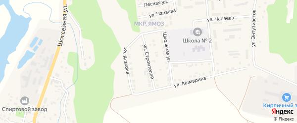 Улица Строителей на карте Ядрина с номерами домов