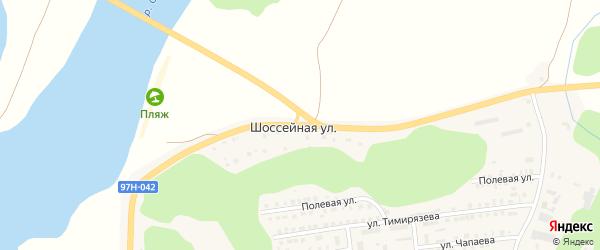 Шоссейная улица на карте Ядрина с номерами домов
