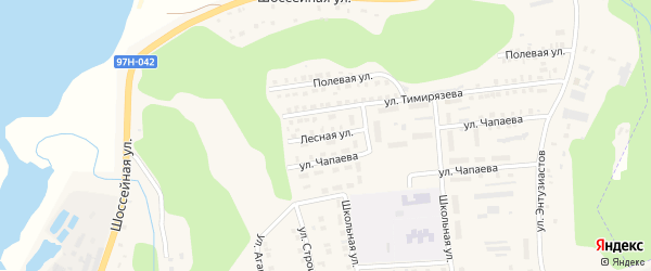 Лесная улица на карте деревни Выселка N1 с номерами домов