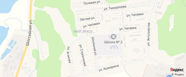 Школьная улица на карте Ядрина с номерами домов