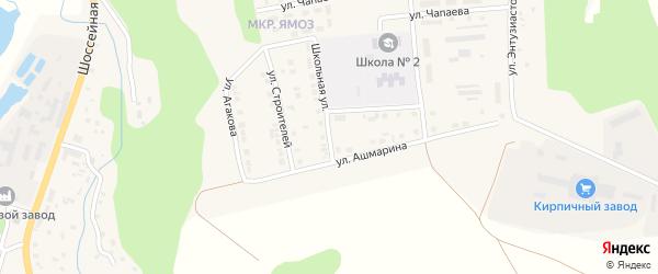 Зои Мироновой переулок на карте Ядрина с номерами домов