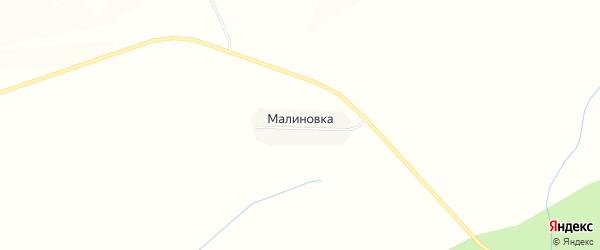 Карта деревни Малиновки в Чувашии с улицами и номерами домов