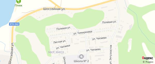 Полевая улица на карте Ядрина с номерами домов