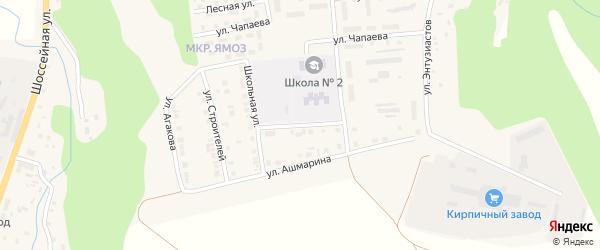 Переулок Магницкого на карте Ядрина с номерами домов