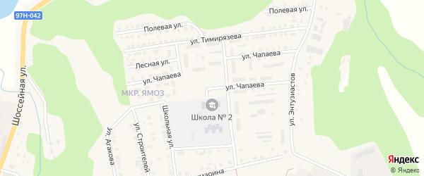 Улица Чапаева на карте Ядрина с номерами домов