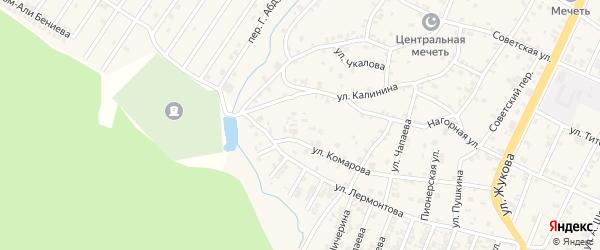 Улица Калинина на карте поселка Ойсхары с номерами домов