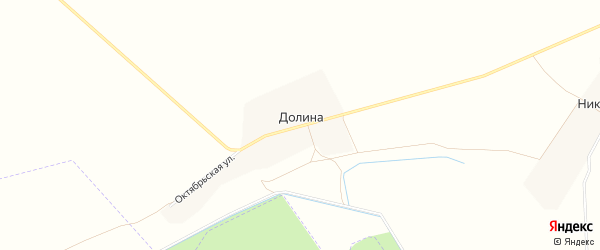 Карта деревни Долина в Чувашии с улицами и номерами домов