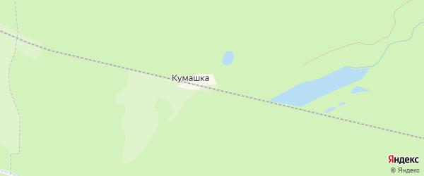 Карта разъезда Кумашки в Чувашии с улицами и номерами домов