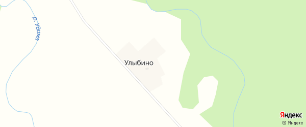Солнечная улица на карте деревни Улыбино с номерами домов