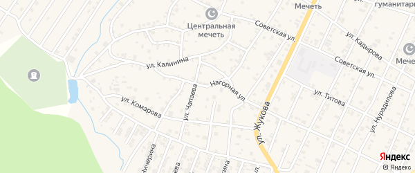 Нагорная улица на карте поселка Ойсхары с номерами домов