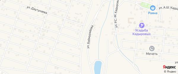 Улица С.Д.Баймурадова на карте села Центарой с номерами домов
