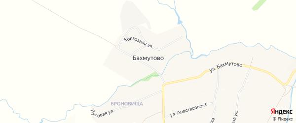 Карта деревни Бахмутово в Чувашии с улицами и номерами домов