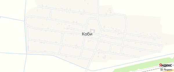 Улица Хетагурова на карте села Коби с номерами домов