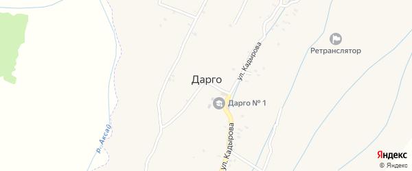 Улица А.Автарханова на карте села Дарго с номерами домов