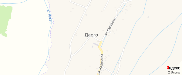 Улица И.Азаматова на карте села Дарго с номерами домов