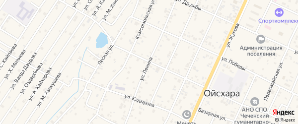 Улица Ленина на карте поселка Ойсхары с номерами домов