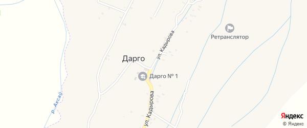 Улица Р.А.Кадырова на карте села Джани-Ведено с номерами домов