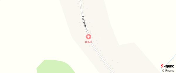 Садовая улица на карте деревни Тоганаши с номерами домов