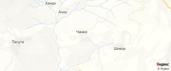 Карта села Чанко в Дагестане с улицами и номерами домов