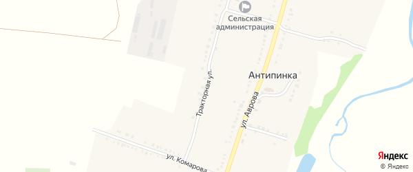 Тракторная улица на карте села Антипинка с номерами домов