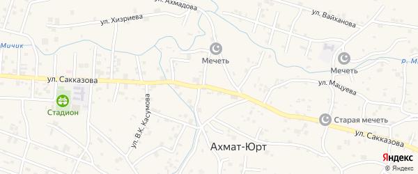 Улица Ю.В.Сакказова на карте села Центарой с номерами домов