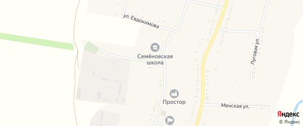 Учительская улица на карте села Антипинка с номерами домов
