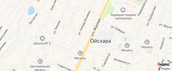 Коммунистическая улица на карте поселка Ойсхары с номерами домов