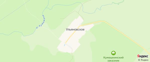 Карта поселка Ульяновского в Чувашии с улицами и номерами домов