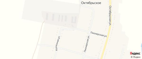 Колхозная улица на карте Октябрьского села с номерами домов