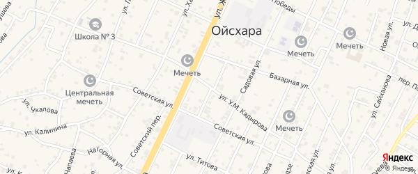 Улица А-Х.Кадырова на карте поселка Ойсхары с номерами домов