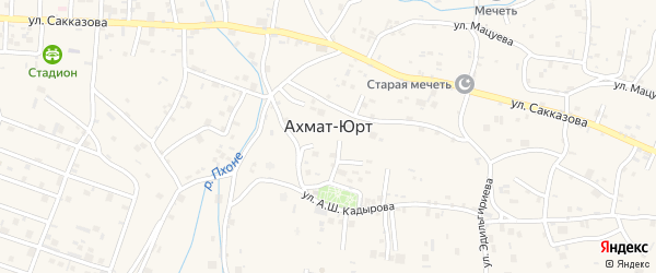 Улица Р.О.Тагирова на карте села Центарой с номерами домов