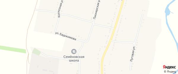 Улица Евдокимова на карте Октябрьского села с номерами домов