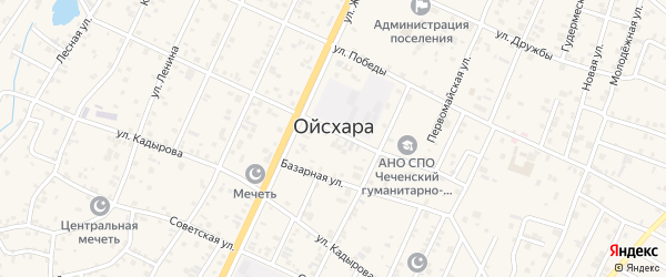 Комсомольский переулок на карте поселка Ойсхары с номерами домов