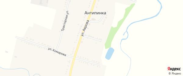 Комсомольская улица на карте села Антипинка с номерами домов