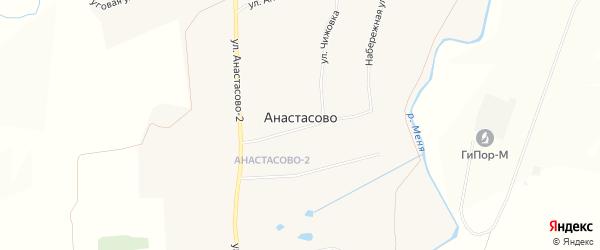 Карта села Анастасово в Чувашии с улицами и номерами домов