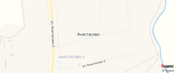 Набережная улица на карте села Анастасово с номерами домов