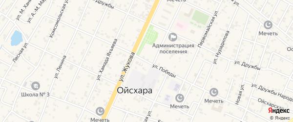 Улица Победы на карте поселка Ойсхары с номерами домов