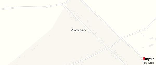 Центральная улица на карте деревни Урумово с номерами домов