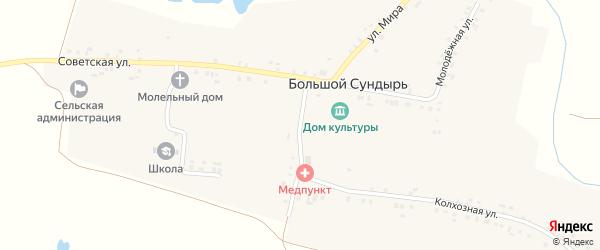 Школьная улица на карте села Большого Сундыря с номерами домов