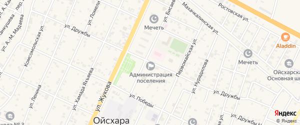 Улица Дружбы на карте поселка Ойсхары с номерами домов