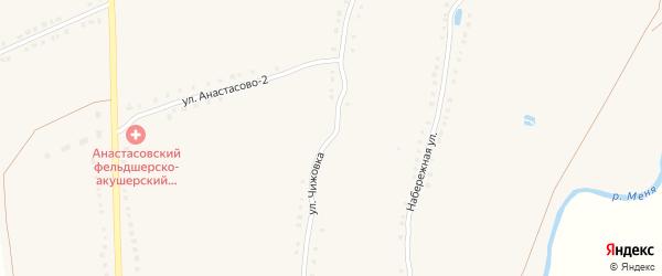 Улица Чижовка на карте села Анастасово с номерами домов