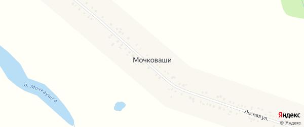 Лесная улица на карте деревни Мочковашей с номерами домов