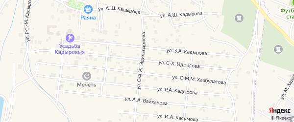 Улица С-Х.С-Х.Идрисова на карте села Центарой с номерами домов