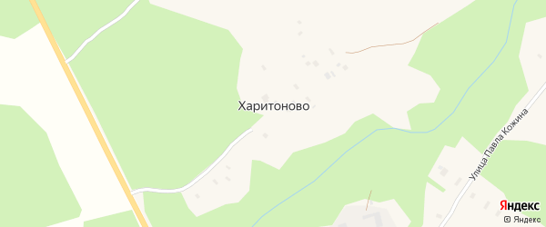 Переулок Тесовицы на карте поселка Харитоново с номерами домов
