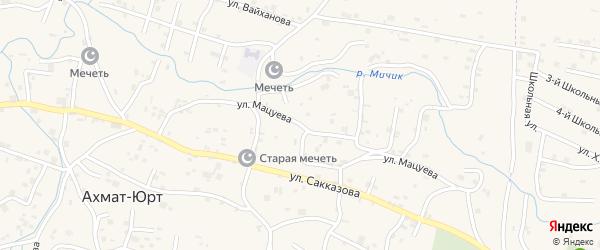 Улица З.С.Мацуева на карте села Центарой с номерами домов