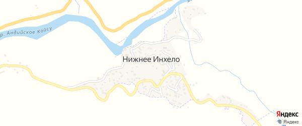 Центральная улица на карте села Нижнего Инхела с номерами домов